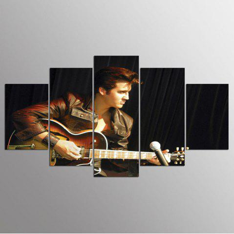 Affordable YSDAFEN 5 Panel HD Printed Elvis Presli Elvis Presley Canvas Print Room Decor