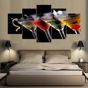 YSDAFEN HD Drinks Group Canvas Print Room Decor Print Poster Picture -