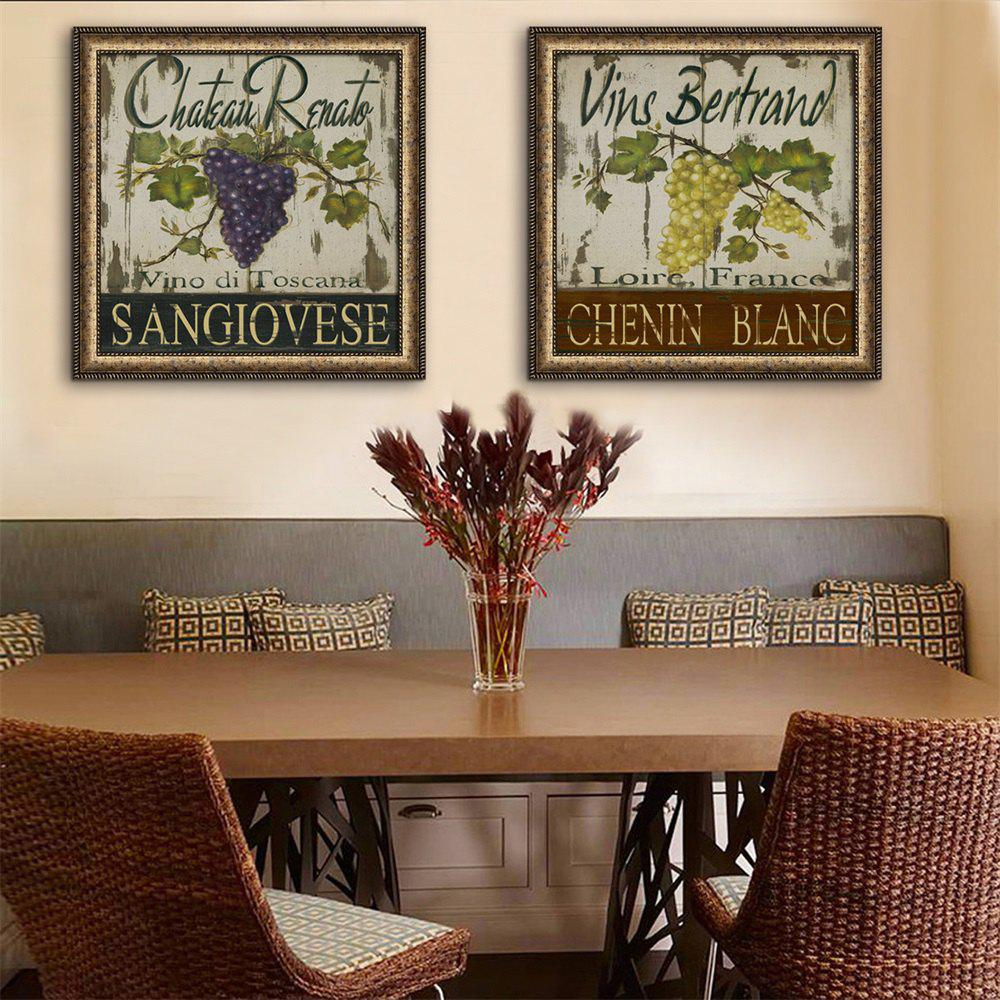 Unique Special Design Frame Paintings Grape Plate Print 2PCS