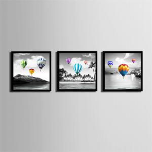 Special Design Frame Paintings Hot Air Balloon Print 3PCS -