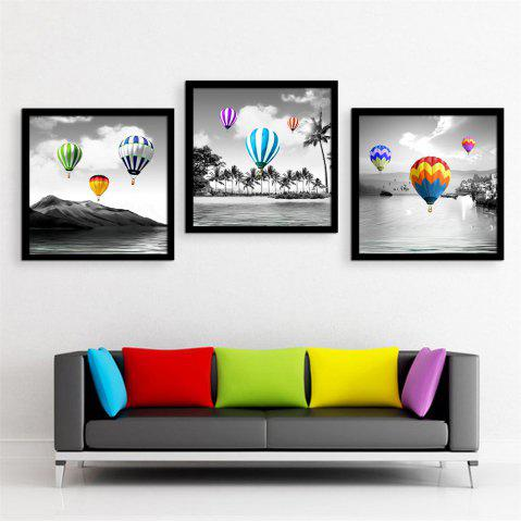 Affordable Special Design Frame Paintings Hot Air Balloon Print 3PCS