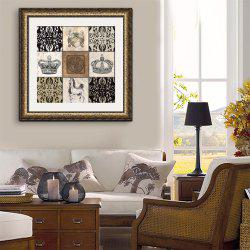 Special Design Frame Paintings Crown Print -