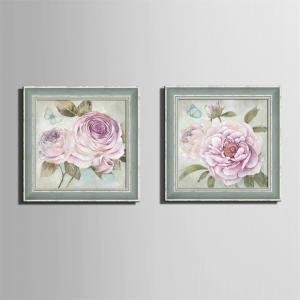 Special Design Frame Paintings Large Pink Flower Print 2PCS -