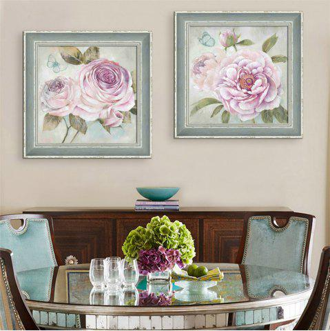 Discount Special Design Frame Paintings Large Pink Flower Print 2PCS