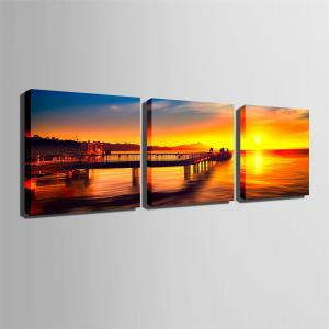 Special Design Frameless Paintings The sundowners Print 3PCS -