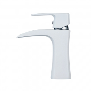 Chrome White Waterfall Bathroom Sink Lavatory Vessel Mixer Faucet -