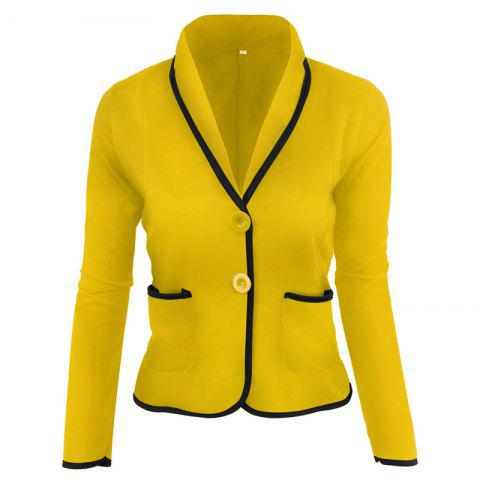 Best Women's Blazer Solid Color Button Slim Blazer
