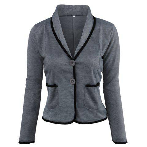 Affordable Women's Blazer Solid Color Button Slim Blazer