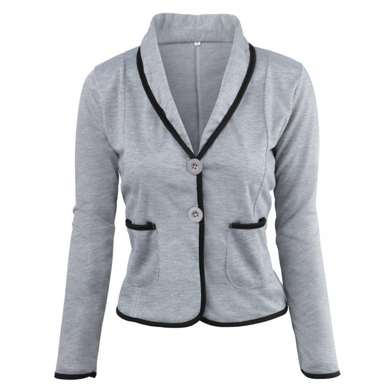 Shops Women's Blazer Solid Color Button Slim Blazer