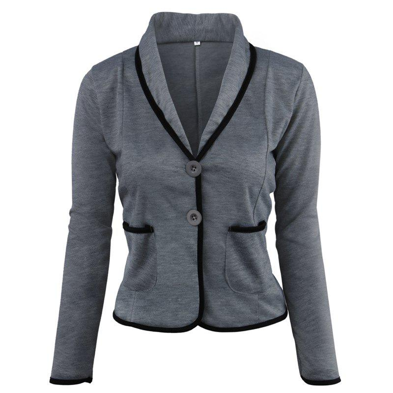 Buy Women's Blazer Solid Color Button Slim Blazer