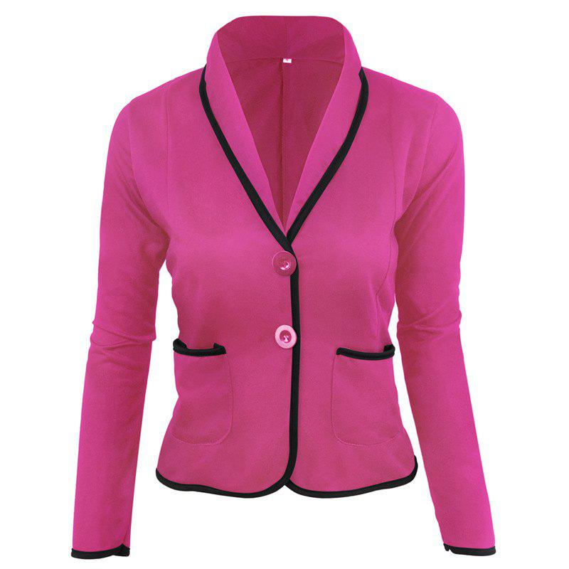 Sale Women's Blazer Solid Color Button Slim Blazer