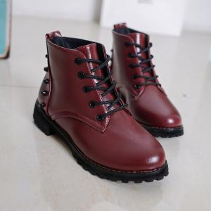 JXY105 Autumn New Fashion Lounge Rubber Soles Flat Bottomed Boots -