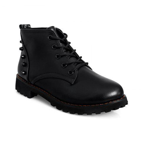 Unique JXY105 Autumn New Fashion Lounge Rubber Soles Flat Bottomed Boots
