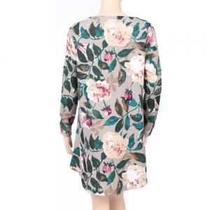 2017 Autumn Spring New Style Flower Printed Long Sleeve Roung  Collar Blouse Women  Long T-Shirts -