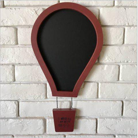 Outfits Message Board Romantic Solid Color Hot Air Balloon Shape Blackboard Wall Decor