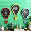 Message Board Romantic Solid Color Hot Air Balloon Shape Blackboard Wall Decor -