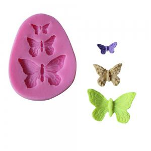 WS 0229 Butterfly Molding Sugar Cake Silica Gel Mold -