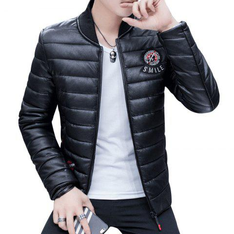 Outfit Men's Stylish Slim Fit  Leather Jacket