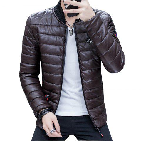 Outfits Men's Stylish Slim Fit  Leather Jacket
