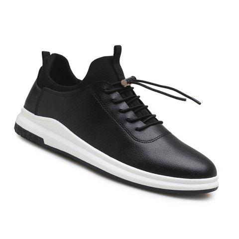 Sale Spring Autumn Round Head Lace up Man Breathes Athletic Shoes