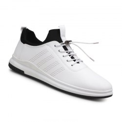 Spring Autumn Round Head Lace up Man Breathes Athletic Shoes -
