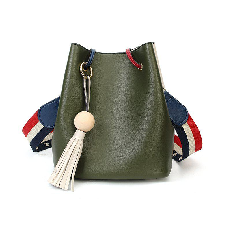 New Edition Simple Bucket Bag Style Slanting Bag with A Bag of Casual Shoulder Bag