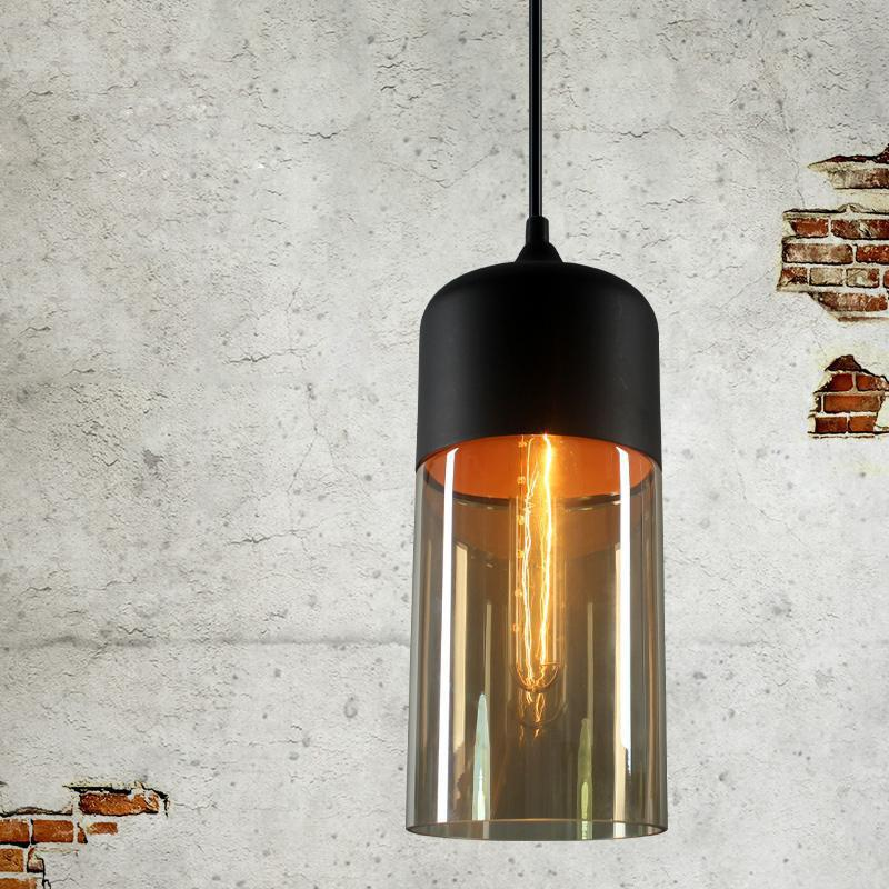 Sale Loft Vintage Industrial Amber Glass Pendant Lamp Fixtures Antique Retro Edison Candy Jar Ceiling Pendant Lights Sha