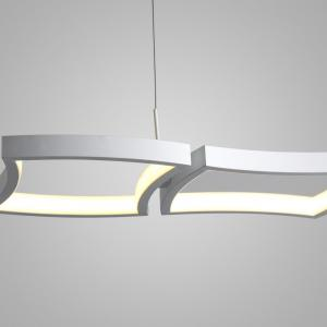 Simple Creative White LED Pendant lamp Square Combination Shape for Office Room  Living Dining Room Bedrooms -