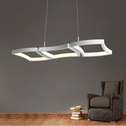 Online Simple Creative White LED Pendant lamp Square Combination Shape for Office Room  Living Dining Room Bedrooms