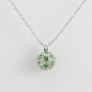 Olive Snowball Pendant Copper White Gold Suit Women Necklace -