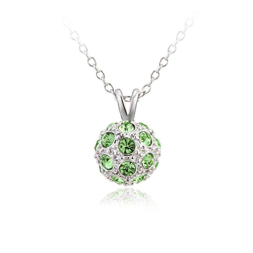 Shop Olive Snowball Pendant Copper White Gold Suit Women Necklace