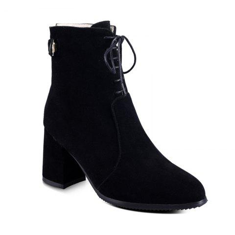 Trendy Women Shoes Chunky Heel  Zip Mid-Calf Boots