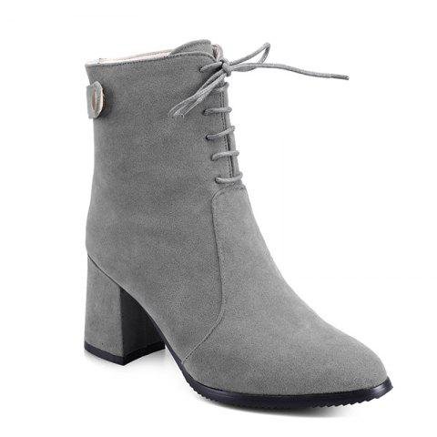 Affordable Women Shoes Chunky Heel  Zip Mid-Calf Boots