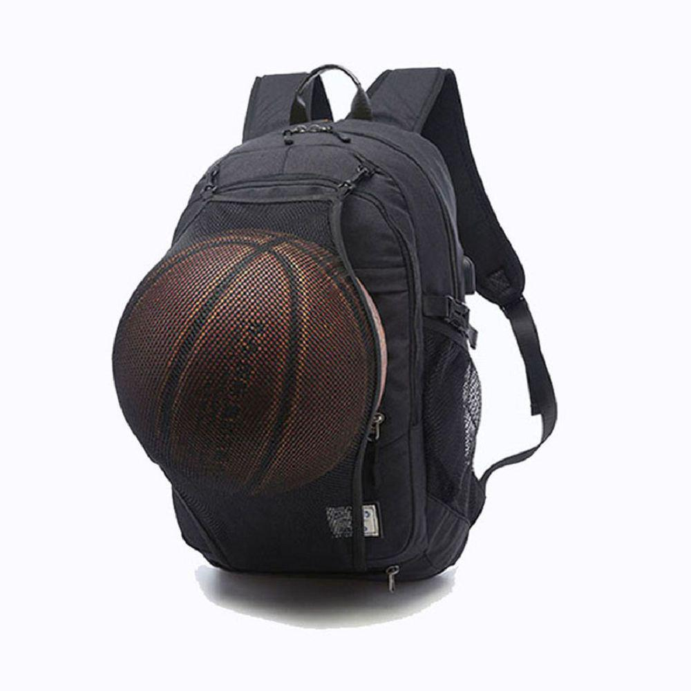 Outfit Mens Canvas Basketball Football Backpack 15 Inch Laptop Backpack