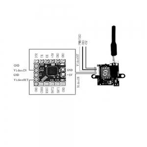 EWRF 5.8G 48CH 25/100/200mW  PAL / NTSC Switchable Mini Camera For PWM / OSD Configuring for RC Drone -