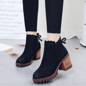 The Women's High Heels With A Round Head -