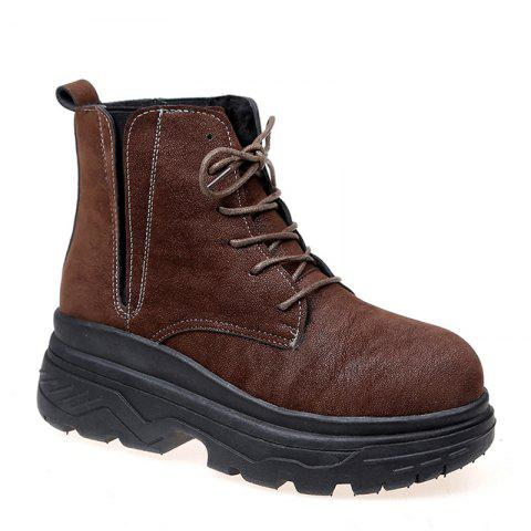 Sale Autumn Wind Plus British Wool Thick Base Cake All-match Martin Boots