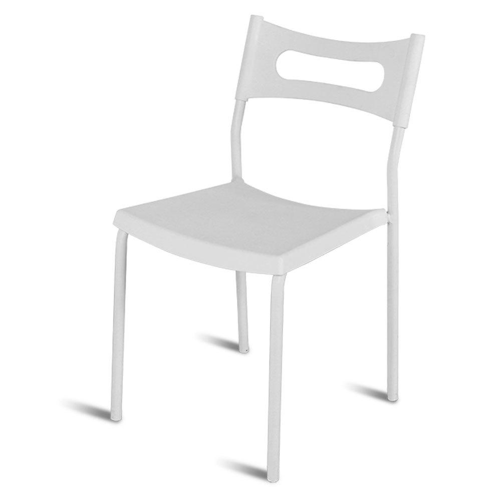 Pleasant Simple Backrest Chair White Plastic Chair With Carbon Steel Stool Legs Ibusinesslaw Wood Chair Design Ideas Ibusinesslaworg