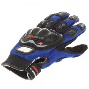 Carbon Fiber Motorcycle Motorbike Cycling Racing Full Finger Gloves -