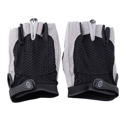 Chic Cycling Half Finger Sweat Absorbent  Black Gloves (L)