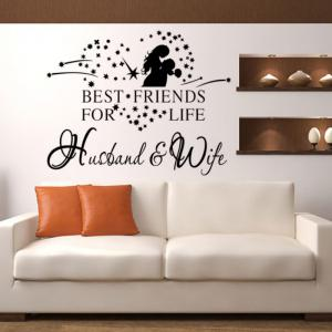 DSU English Proverbs Home Words and Love Man Sitting Room Bedroom Wall Stickers -