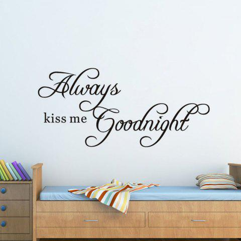 New DSU Always Kiss Me Goodnight Wall Decals Quotes Vinyls Stickers Wall Stickers Home Decor Living Room