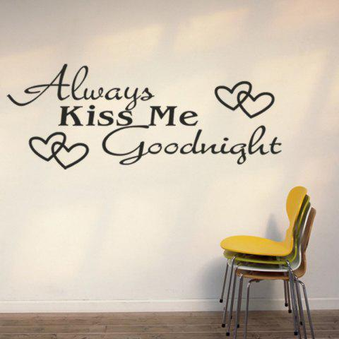 Affordable DSU Always Kiss Me LOVE Heart Quotes Vinyls Stickers Wall Stickers Home Decor Living Room
