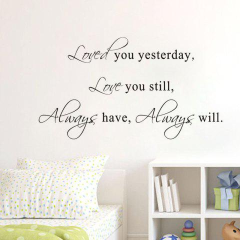 Discount DSU Hot Sale Love You Stil Quotes Vinyls Stickers Wall Stickers Home Decor Living Room