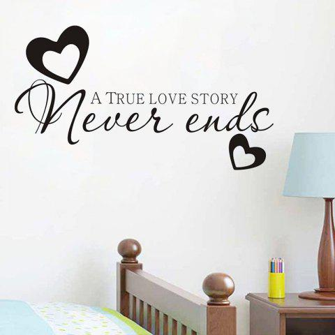 Fashion DSU Hot Sale Never Ends Quotes Vinyls Stickers Wall Stickers Home Decor Living Room