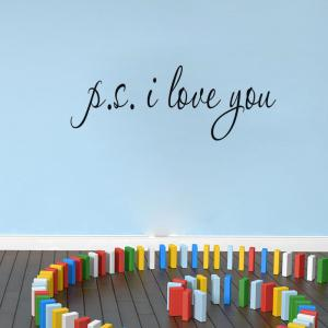 DSU I Love You Quotes Vinyls Love Wall Sticker Removable Vinyl Decal Home Decor -