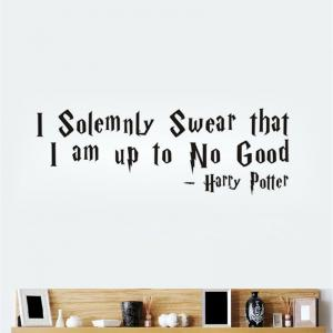 DSU Solemnly Swear Quotes Vinyls Stickers Wall Stickers Home Decor Living Room -
