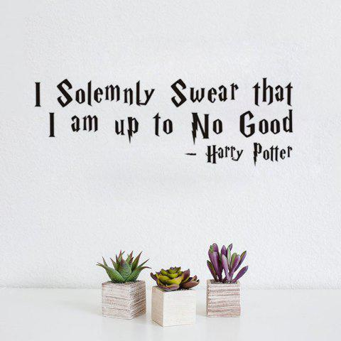 Trendy DSU Solemnly Swear Quotes Vinyls Stickers Wall Stickers Home Decor Living Room
