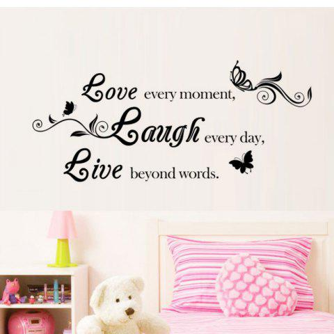 Fancy DSU Live Laugh Love Quotes Wall Decals Home Decorations Adesivo De Paredes Removable Diy Wall Stickers