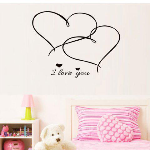 Sale DSU Couples Together Forever Hearts Bedroom Love Wall Sticker Removable Vinyl Decal Home Decor